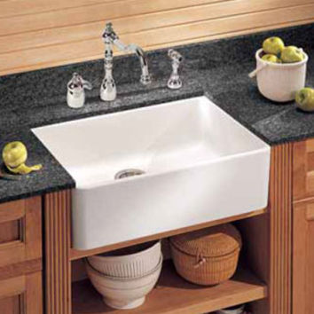 Franke MHK110-24WH Manor House Drop In/Farmhouse Fireclay Kitchen Sink