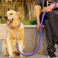 2016 New High Quality Upgraded color collar stereotyped rope Large Dog Leashes Pet Traction Rope Collar Set For Big Dogs