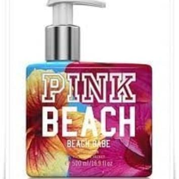 Victoria's Secret PINK BEACH BEACH BABE Scent Supersoft Body Lotion 16.9 OZ