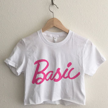 Basic Girlie Doll Typography Crop Top