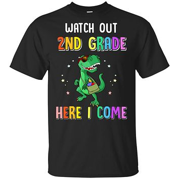 2nd Grade Here I Come Dinosaur Back To School Youth