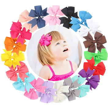 20Pcs Cute Sweet Lovely Bowknot Hair Clip for Kids Baby Girls Toddlers and Infants SM6