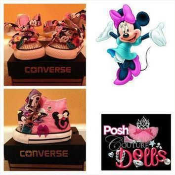 ICIKGQ8 minnie inspired bling converse