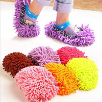 2 PCS Mop Slippers Lazy Quick House Floor Polishing Dusting Cleaning Foot Socks Shoe Lovers Shoes
