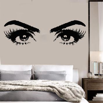 Vinyl Wall Decal Woman Eyes Beauty Salon Girl Room Makeup Stickers (ig3648)
