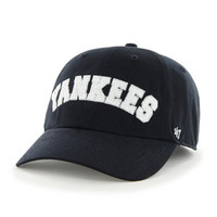 MLB New York Yankees '47 Brand Natalie Sparkle Adjustable Cap, One Size, Navy