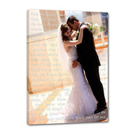 I love you Sign - Photos love letters, Your words Wedding Canvas 16X20