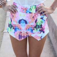 MIDNIGHT LOVERS SKORTS , DRESSES, TOPS, BOTTOMS, JACKETS & JUMPERS, ACCESSORIES, 50% OFF SALE, PRE ORDER, NEW ARRIVALS, PLAYSUIT, COLOUR, GIFT VOUCHER,,SHORTS,Pink,White,Print,MINI Australia, Queensland, Brisbane