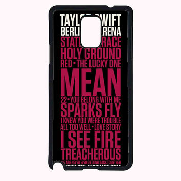 Taylor Swift Red poster FOR SAMSUNG GALAXY NOTE 4 CASE**AP*