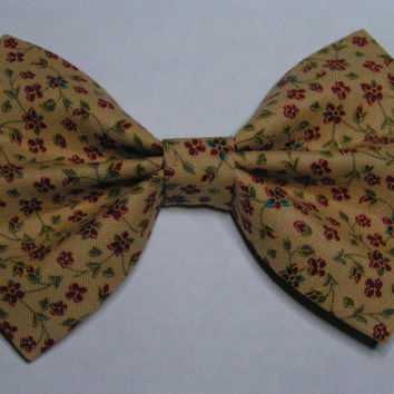 Hair Bow- Burgundy Floral, Hair clips for kids and teens, hair clips for women, small hair bows
