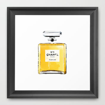 chanel no5 Framed Art Print by Nina Lindgren