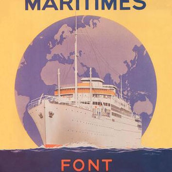 Take a Cruise around the World with Les Messageries Maritimes 20x30 poster