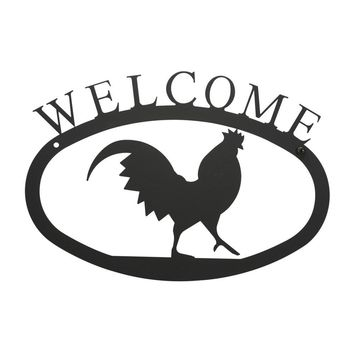 Rooster - Welcome Sign Large