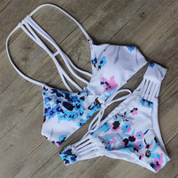Floral Print Bikini Swimsuit Brazilian Beach Bathing Suit