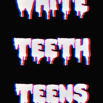 White Teeth Teens Art Print by Marvin Fly