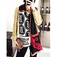 Burberry Fashion New More Letter Print Scarf Keep Warm Women
