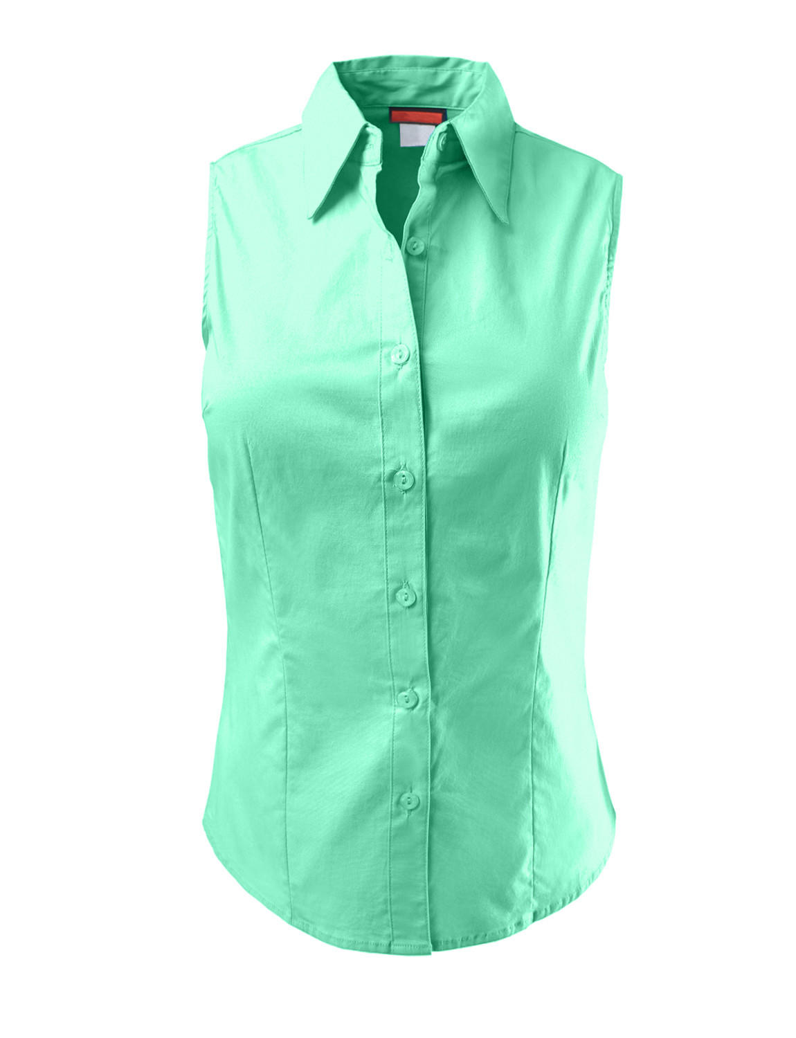 Le3no womens lightweight cotton from le3no for Sleeveless cotton button down shirts