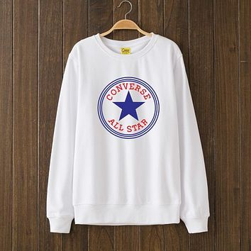 Converse Woman Men Top Sweater Pullover
