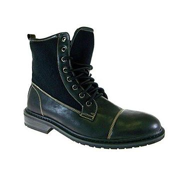 Polar Fox Men's 808565 Lace Up Cap Toe Military Combat Boots