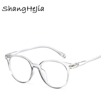 46f9221a8e2 2018 Fashion Women Glasses Frame Men Eyeglasses Frame Vintage Round Clear Lens  Glasses Optical Spectacle Frame