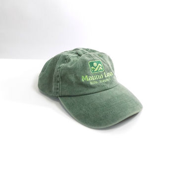 GREEN HAWAII CAP // 90s // Minimal Cap // Minimal Hat // 90s Cap / 90s Hat // Basic Hat / Basic Cap / Denim hat // Denim Cap // Outdoors Hat
