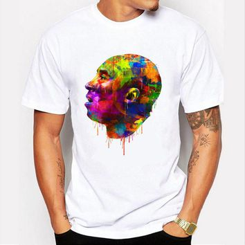 kobe bryant avatar oil painting design men s t shirt cool fashion tops short sleeve tees  number 1