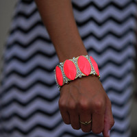 Pretty As A Petal Bracelet: Neon Pink | Hope's