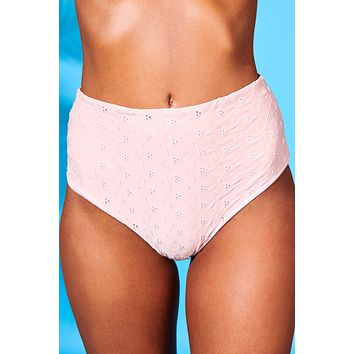 Rosé All Day High Waist Bikini Bottoms (Rosewater)