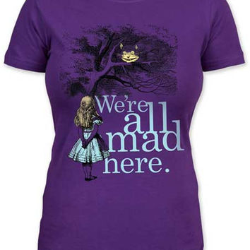 Alice In Wonderland 'All Mad Here' T-Shirt