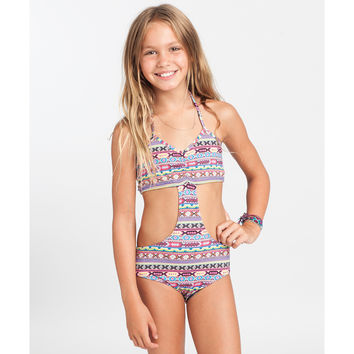 Billabong Girls' Surf Friends One Piece Multi