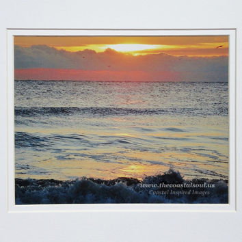 Photographic Archival Print Coastal Photo Indomitable Sunrise Seascape