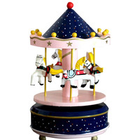 Carousel Wooden Music Box