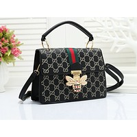 GUCCI fashionable embossed striped single shoulder bag hot seller of casual ladies shopping bag #3