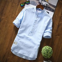 *online exclusive* men's linen polo w/ rolled sleeve