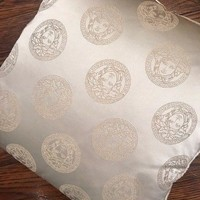 VERSACE MEDUSA CUSHION / PILLOW IVORY 100% GENUINE SILK MADE IN ITALY
