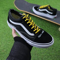 Coutié x Vans One World Old Skool Black White Yellow Casual Shoes Canvas Shoes - Best Online Sale