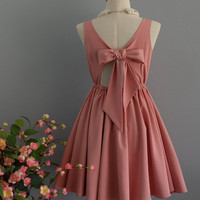 A Party V - Lolita Dress Sweet Lolita Backless Dress Pale Pink Nude Bridesmaid Dress Pink Nude Party Dress Pink Nude Summer Dress XS-XL