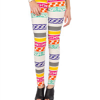 Crayon Aztec Leggings - 2020AVE