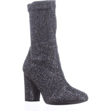 Kenneth Cole New York Alyssa High Rise Ankle Boots, Pewter, 6.5 US / 37 EU