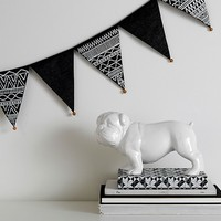Bells & Embroidery Pennant Garland