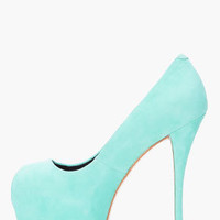 Giuseppe Zanotti Mint Green Suede Pumps for women