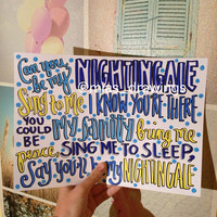 Nightingale Demi Lovato lyric art by Miasdrawings on Etsy