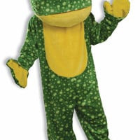Adult Costume: Deluxe Plush Frog Mascot