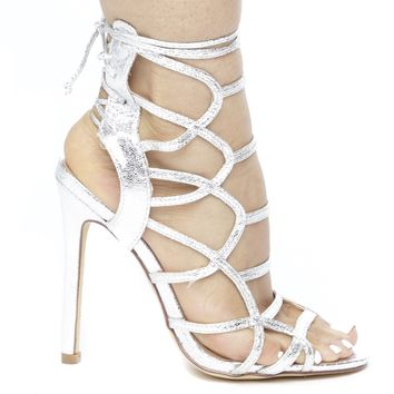 IMENA CAGED METALLIC HEEL