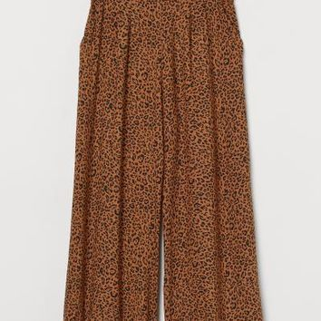 Cropped Pull-on Pants - Brown/leopard print - Ladies | H&M US
