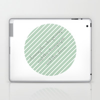 Gatsby Quote - Among the whisperings and the champagne and the stars...  Laptop & iPad Skin by Senorita