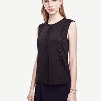 Lace Inset Shell | Ann Taylor