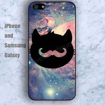 Starry sky  cat colorful iPhone 5/5S case Ipod Silicone plastic Phone cover Waterproof