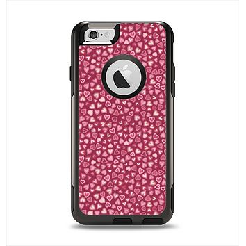 The Small Pink Hearts Collage Apple iPhone 6 Otterbox Commuter Case Skin Set