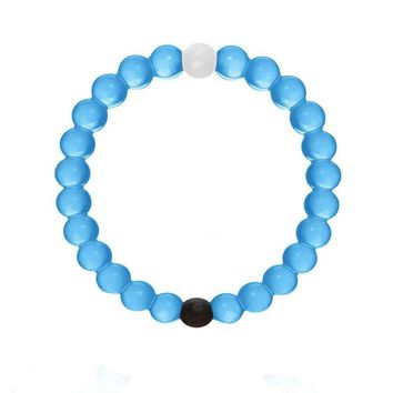 Lokai Bracelet with 4 Sizes and 3 Colors (L, Blue)